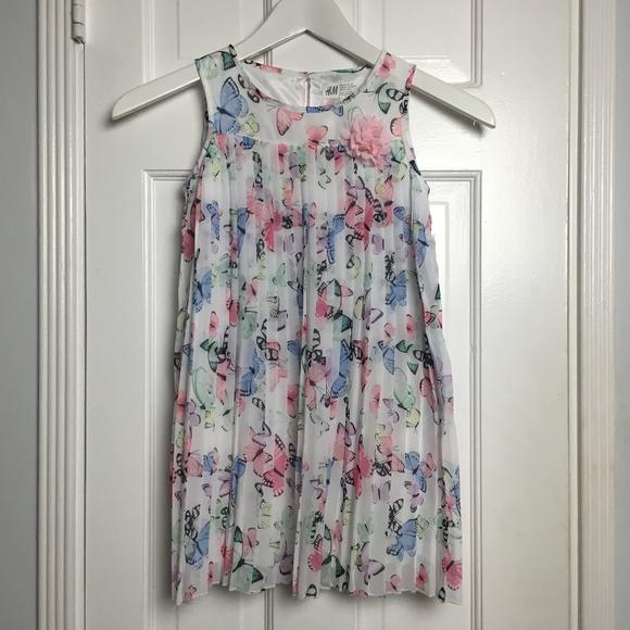 844d4e677252 H&M Dresses | Hm Multicolor Printed Girls Dress Sz 56yr | Poshmark